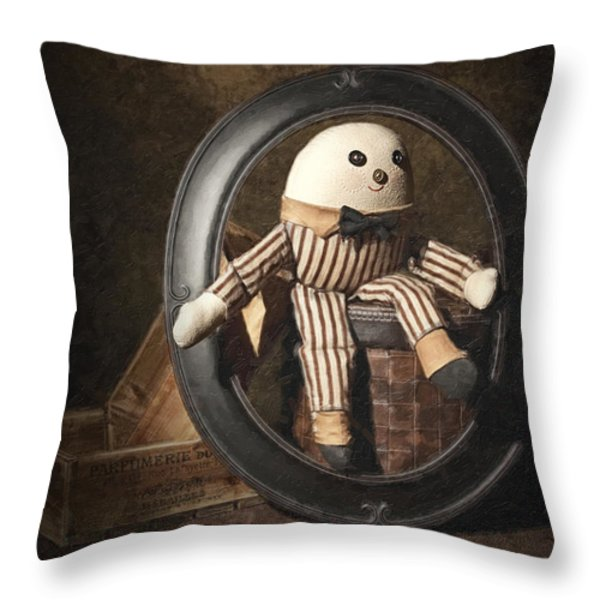 Humpty Dumpty Throw Pillow by Tom Mc Nemar