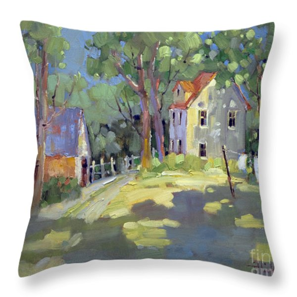 Hung Out to Dry Throw Pillow by Joyce Hicks