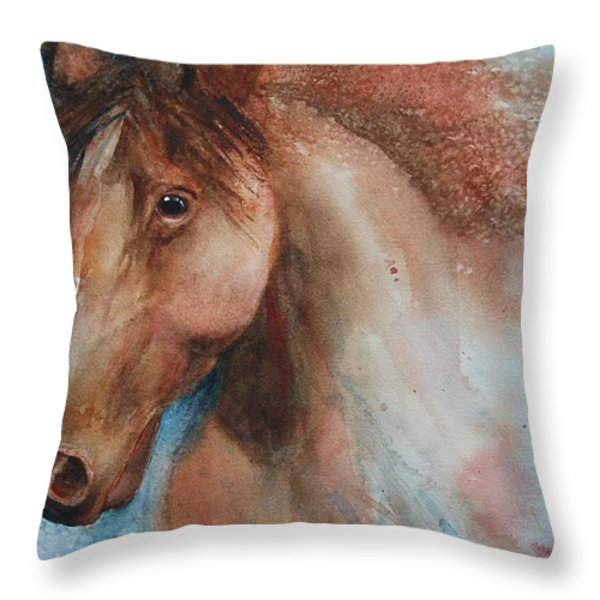Hunter Throw Pillow by Ruth Kamenev