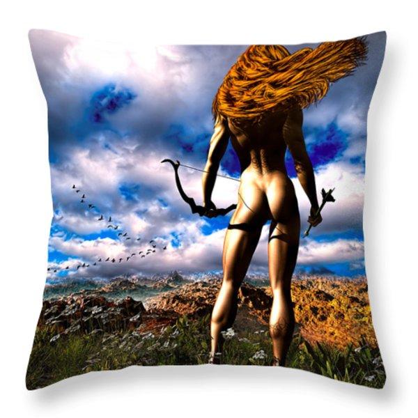 Hunting Edens Edge Throw Pillow by Bob Orsillo