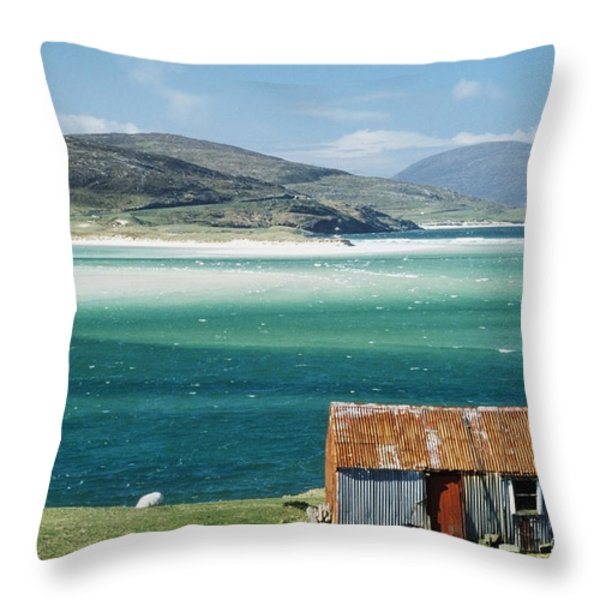 Hut On West Coast Of Isle Throw Pillow by Rob Penn