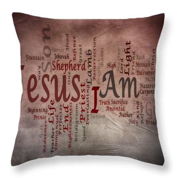 I Am 1 Throw Pillow by Angelina Vick