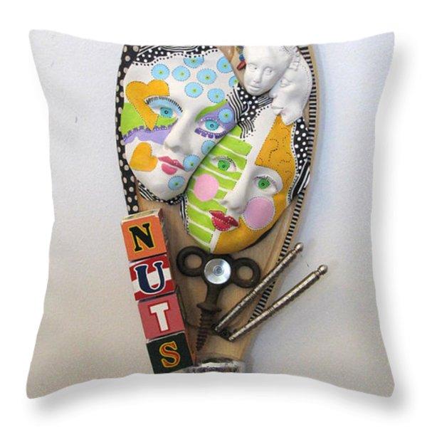 I Am A Shizophrenic And So Am I Throw Pillow by Keri Joy Colestock