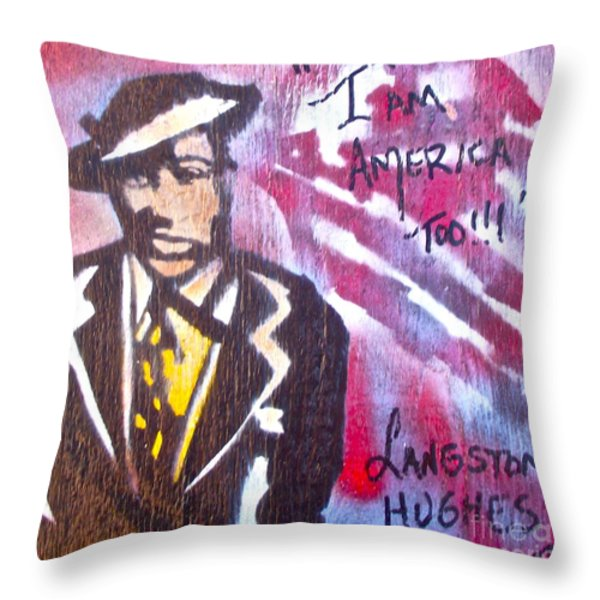 I Am America Too Throw Pillow by Tony B Conscious