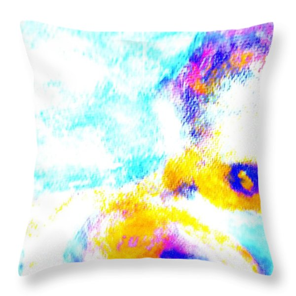 I am floating away Throw Pillow by Hilde Widerberg