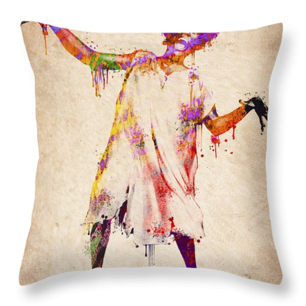 I Am Going Crazy Throw Pillow by Aged Pixel