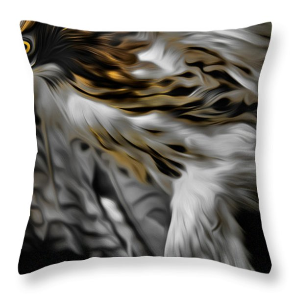 I Am Redtail Throw Pillow by Bill  Wakeley