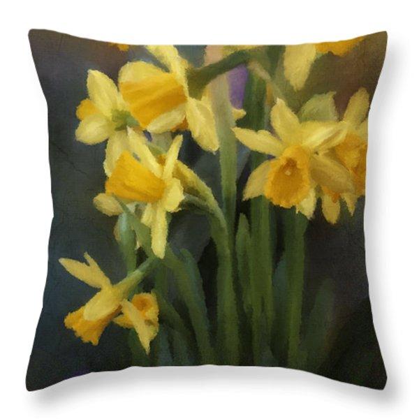 I Believe - Flower Art Throw Pillow by Jordan Blackstone