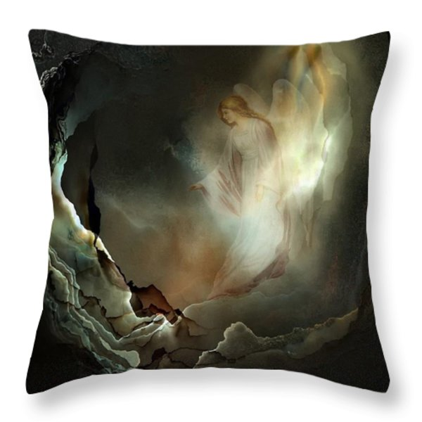 I believe in angels  Do you Throw Pillow by Gun Legler