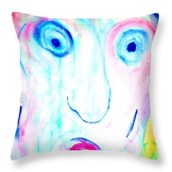 I didnt do it  Throw Pillow by Hilde Widerberg