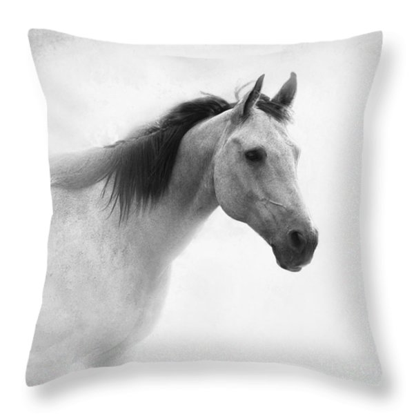 I Dream of Horses Throw Pillow by Betty LaRue