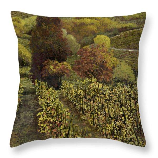 I filari in autunno Throw Pillow by Guido Borelli