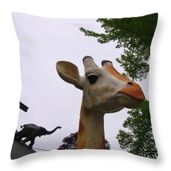 I Have No Idea What That Elephant Is Thinking Throw Pillow by John Malone