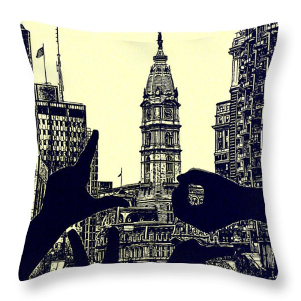 I Love Philly Throw Pillow by Bill Cannon
