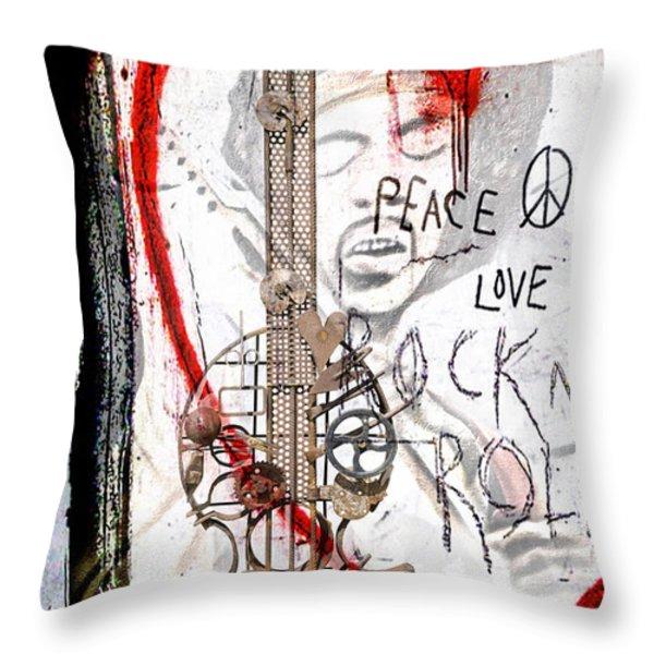 I Love Rocknroll Throw Pillow by Joachim G Pinkawa