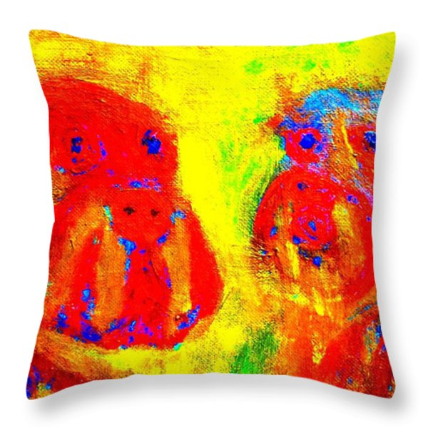 I love you dog Throw Pillow by Hilde Widerberg