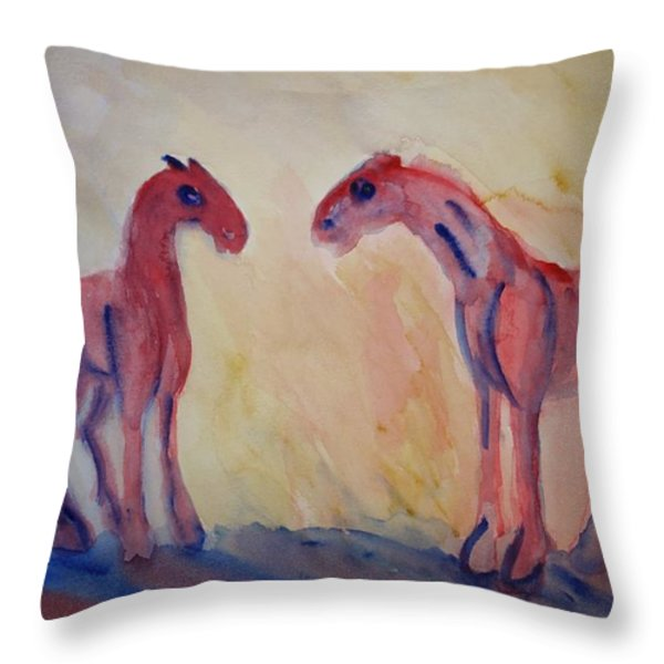 I Love You Too Throw Pillow by Hilde Widerberg