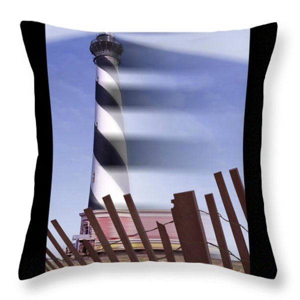 I Saw The Lighthouse Move Throw Pillow by Mike McGlothlen