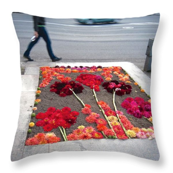 I See Flowers For You Everywhere Throw Pillow by Mary Lee Dereske