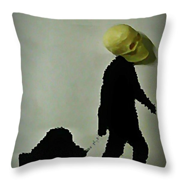 I Travel Light  Don't Need Much Throw Pillow by John Malone