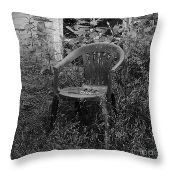 I Used to Sit Here Throw Pillow by Luke Moore