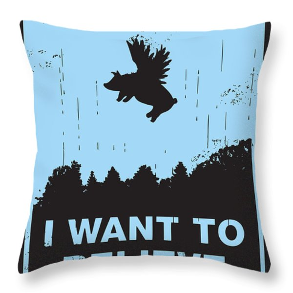 I want to believe Throw Pillow by Budi Kwan