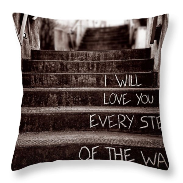I Will Love You Throw Pillow by Bob Orsillo