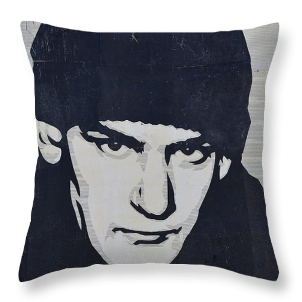 Ian Mackaye Throw Pillow by Allen Beatty
