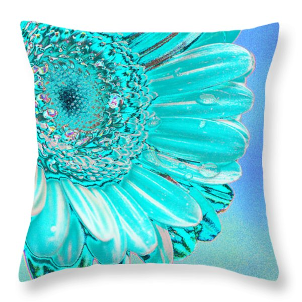 Ice blue Throw Pillow by Carol Lynch
