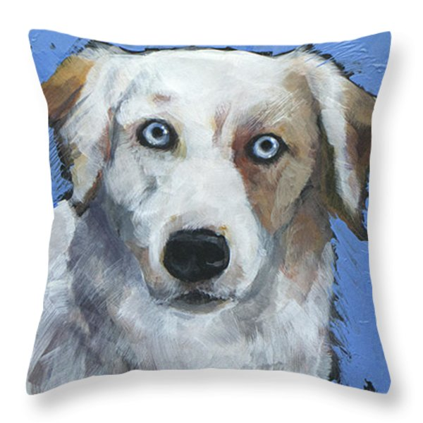 Ice Blue Throw Pillow by Mary Medrano
