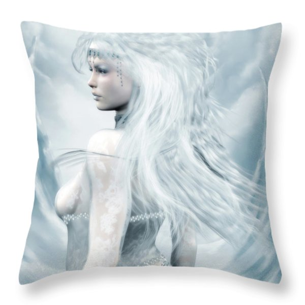 Ice Blue Throw Pillow by Melissa Krauss