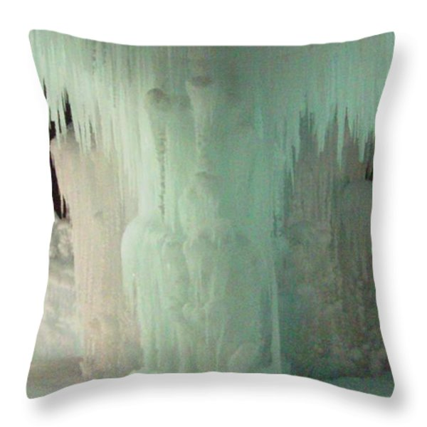 Ice Flow 22 Throw Pillow by Feile Case
