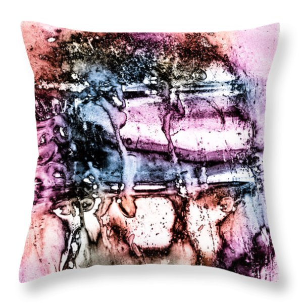 Ice Number Three Throw Pillow by Bob Orsillo
