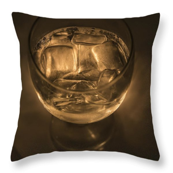 Ice Water By Candle Light Throw Pillow by Angela A Stanton