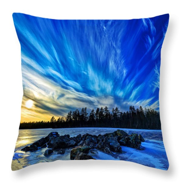 Icebound 3 Throw Pillow by Bill Caldwell -        ABeautifulSky Photography