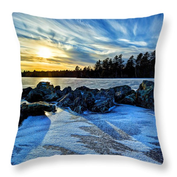 Icebound 5 Throw Pillow by Bill Caldwell -        ABeautifulSky Photography