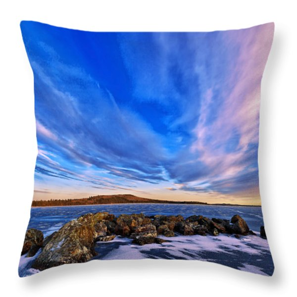 Icebound 6 Throw Pillow by Bill Caldwell -        ABeautifulSky Photography