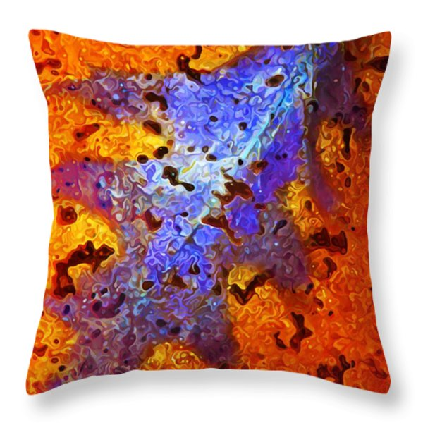 Icebound Leaf 2 Throw Pillow by Bill Caldwell -        ABeautifulSky Photography