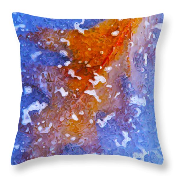 Icebound Leaf Throw Pillow by Bill Caldwell -        ABeautifulSky Photography