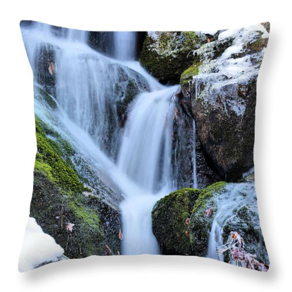 Icicles Throw Pillow by JC Findley