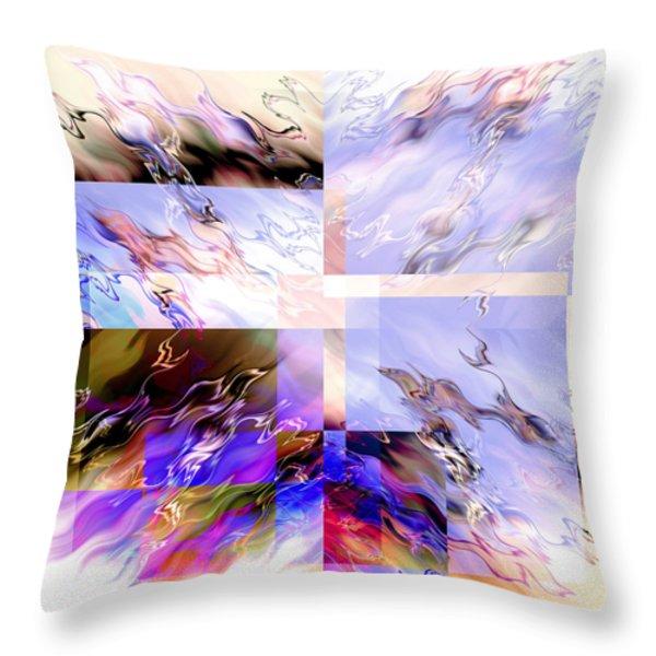 Icy Flames Throw Pillow by Hakon Soreide