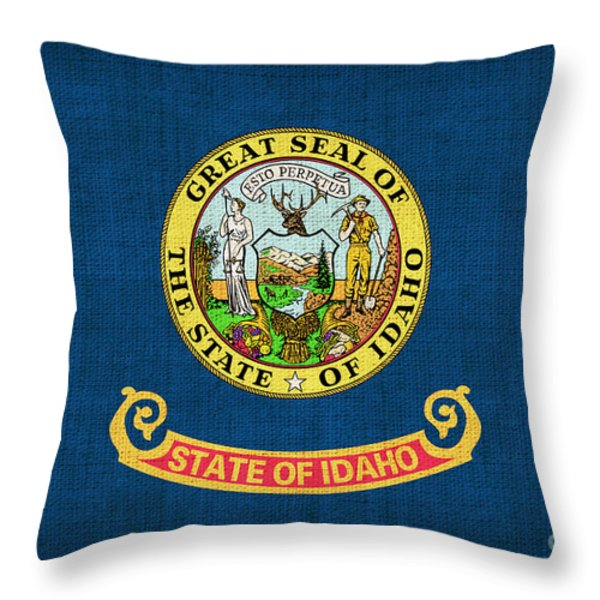 Idaho state flag Throw Pillow by Pixel Chimp