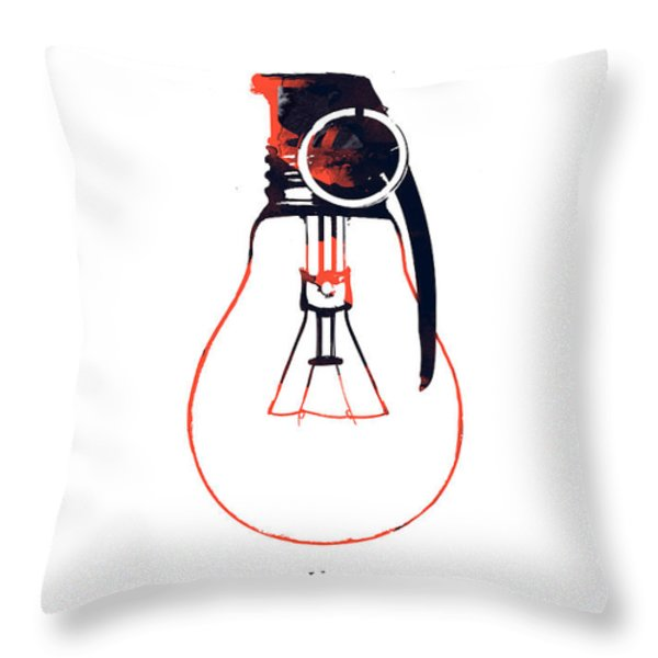 Idea is a powerful weapon Throw Pillow by Budi Satria Kwan