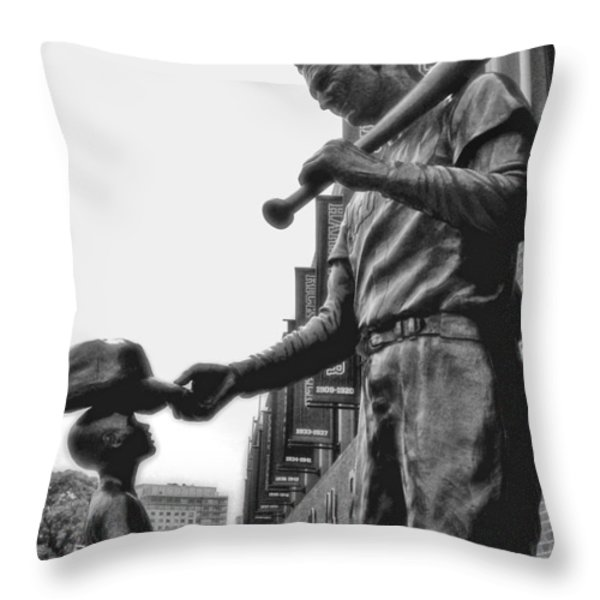 Idol Throw Pillow by Joann Vitali