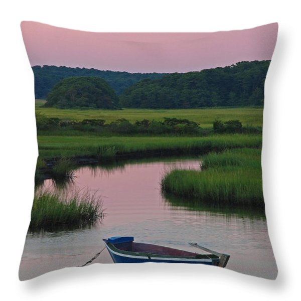 Idyllic Cape Cod Throw Pillow by Juergen Roth