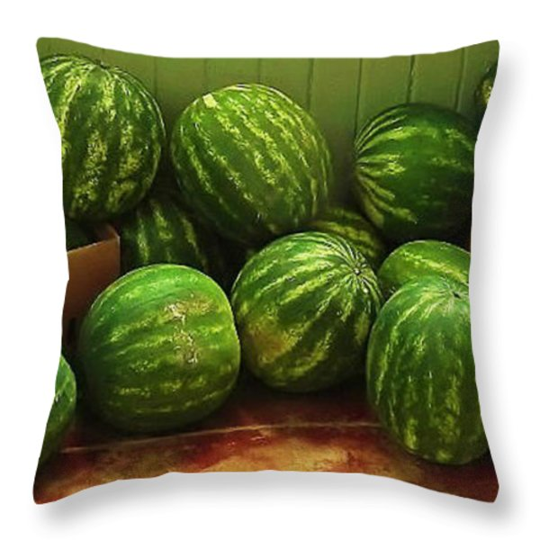 If I Had A Watermelon Throw Pillow by Patricia Greer