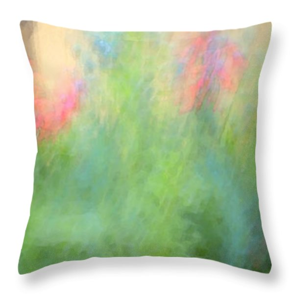 If My Front Yard Was Giverny Throw Pillow by Theresa Tahara