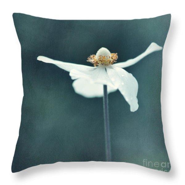 If  Petals Were Wings Throw Pillow by Priska Wettstein