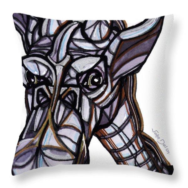 iGiraffe Throw Pillow by Del Gaizo