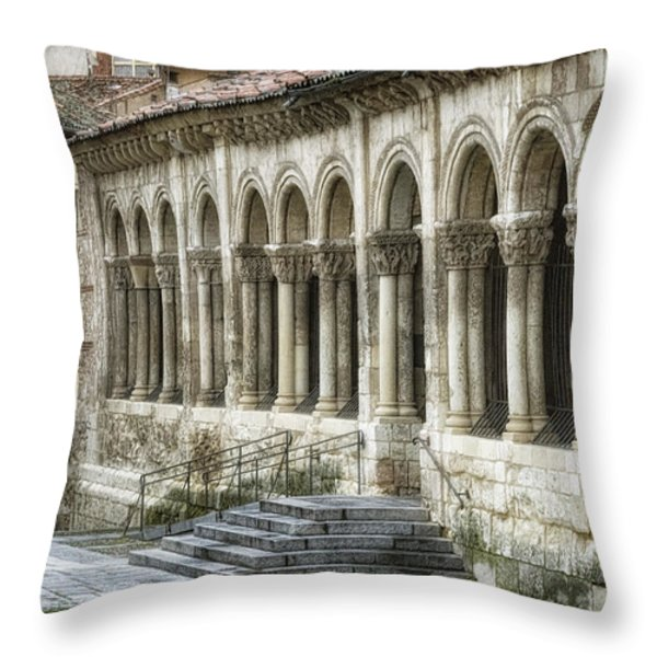 Iglesia De San Millan Throw Pillow by Joan Carroll